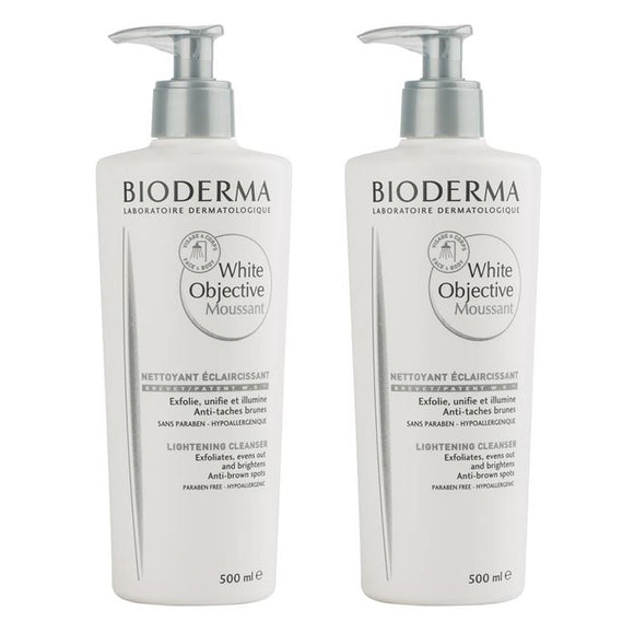 Bioderma White Objective Foaming Cleanser 2x500ml 1 Alana 1 Bedava İkiz Kofre Set