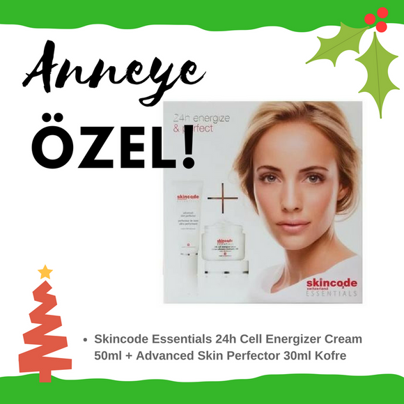 Skincode Essentials 24h Cell Energizer Cream 50ml + Advanced Skin Perfector 30ml Kofre