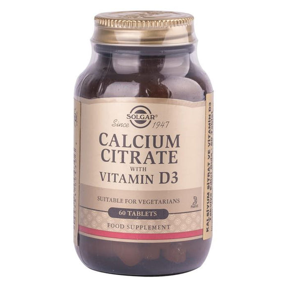 Solgar Calcium Citrate With Vitamin D3 60 Tablet