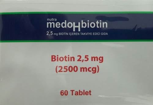 Nutra Medobiotin Tablet 2,5 Mg 60 Tablet
