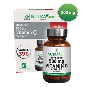 Nutrafarm Buffered 500 mg Vitamin C Complex 60 Kapsül