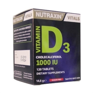 Nutraxin Vitamin D3 120 Tablet