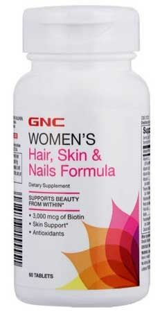 Gnc Women's HSN Hair, Skin & Nails Formula 60 Tablet