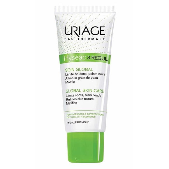 Uriage Hyseac 3 Regul Global Skin Care 40ml-Leke ve Siyah Nokta Karşıtı Krem