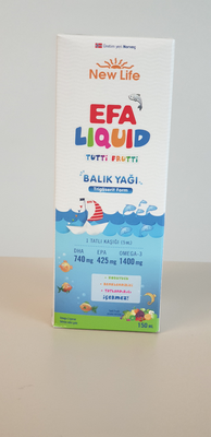 New Life EFA Liquid  Balık Yağı Şurubu 150 ml (orange- tutti frutti)