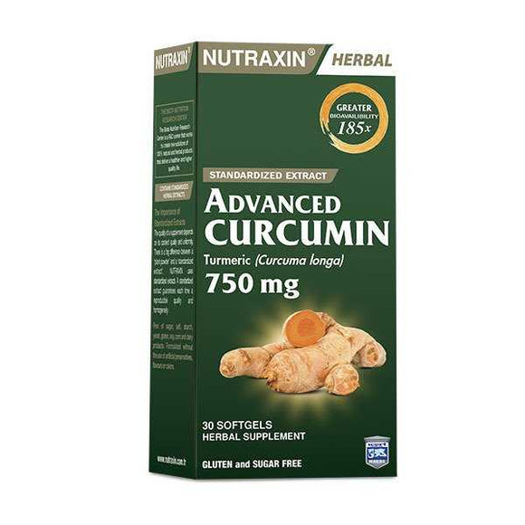 Nutraxin Advanced Curcumin 750mg 30 Softgel (kapsül)