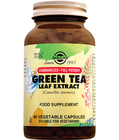 Solgar Green Tea Leaf Extract 60 Kapsül