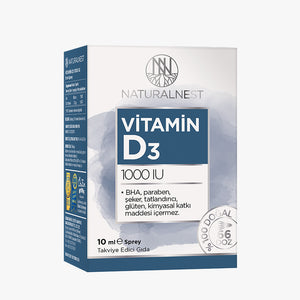 Naturalnest Vitamin D3 1000u Sprey 10 Ml