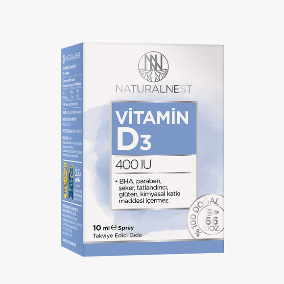 Naturalnest Vitamin D3 400u Sprey 10ml