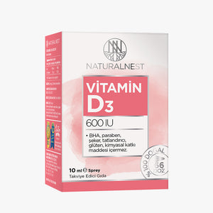 Naturalnest Vitamin D3 600u Sprey 10ml