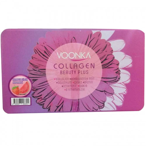 Voonka Collagen Beauty Plus 30 Saşe (Çilek & Karpuz ve Ananas Aromalı) -YENİ KUTU