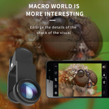 Portable 3 in 1 Phone Camera Lens Fish Eye Wide Angle/macro Lens for Mobile Phone