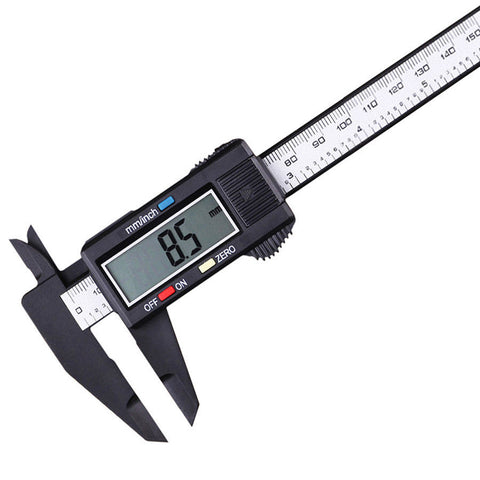 Digital Vernier Caliper Inch/Metric Conversion Tool 0-6 Inch/150 mm LCD Screen