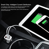 Double USB Max 2.1A Car Charger LCD Display Dual USB Port for Telephone