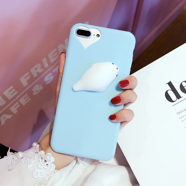 3D Soft TPU Funny Dolphin Phone Cases for iPhone