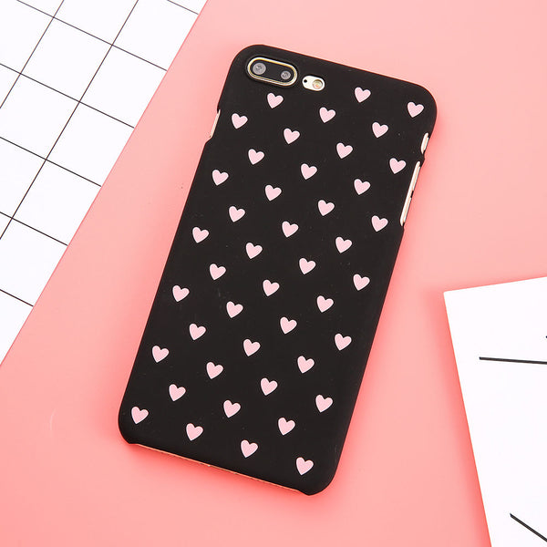 Fashion love heart painted Anti-knock girl style PC Phone case r For iphone