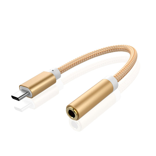 USB Type-C Male to 3.5mm Audio Female jack Type C to 3.5 Headphone Converter for Letv 2,2 pro, max 2, pro 3,xiaomi 6