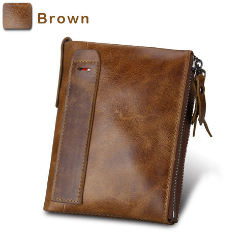 Mens' Wallet Vintage RFID Cowhide Leather