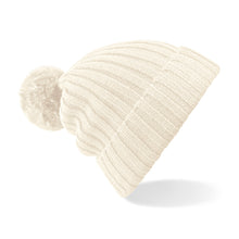 Off white pom pom hat