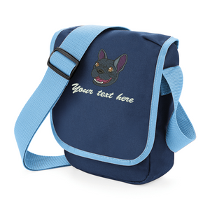 walkies bag french bulldog navy