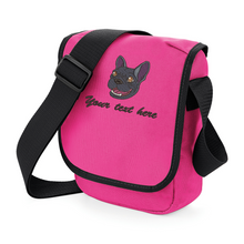 french bull dog walkies bag pink