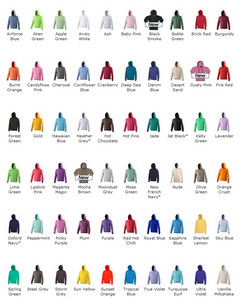 Hoodie colours 2018