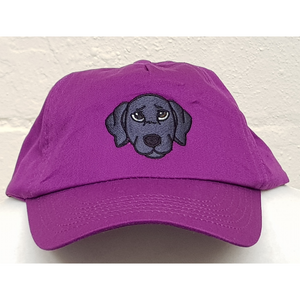 Embroidered magenta labrador cap