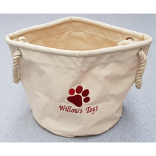 Willow's pawprint toy bag
