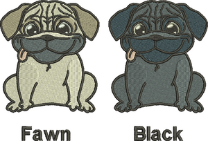 Personalised Pug Towel