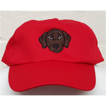Embroidered classic red labrador cap