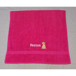 Embroidered Labrador Towel