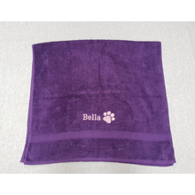 Personalised Pawprint Towel.