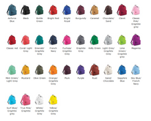 Backpack colours