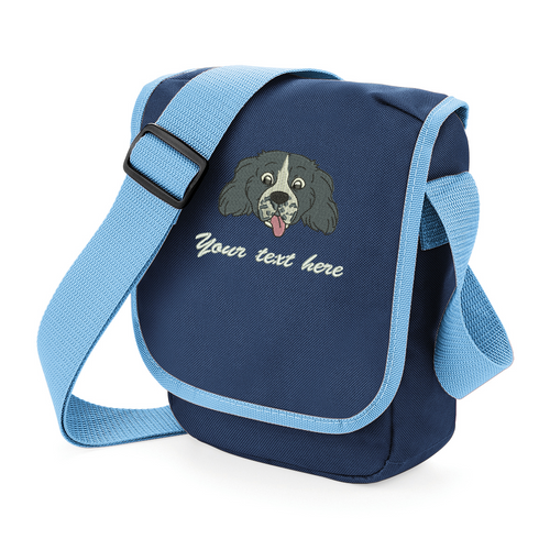 Black springer spaniel walkies bag