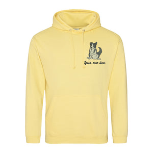 Embroidered Border Collie Hoodie