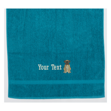 personalised boxer dog towel