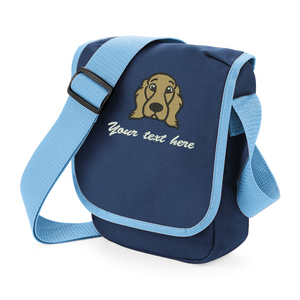 Golden Cocker Spaniel personalised walkies bag