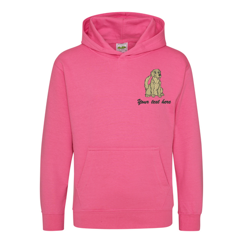 Personalised kids Golden Retriever hoodie