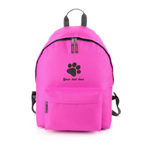 Personalised embroidered pawprint backpack