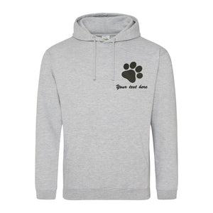 Embroidered pawprint hoodie