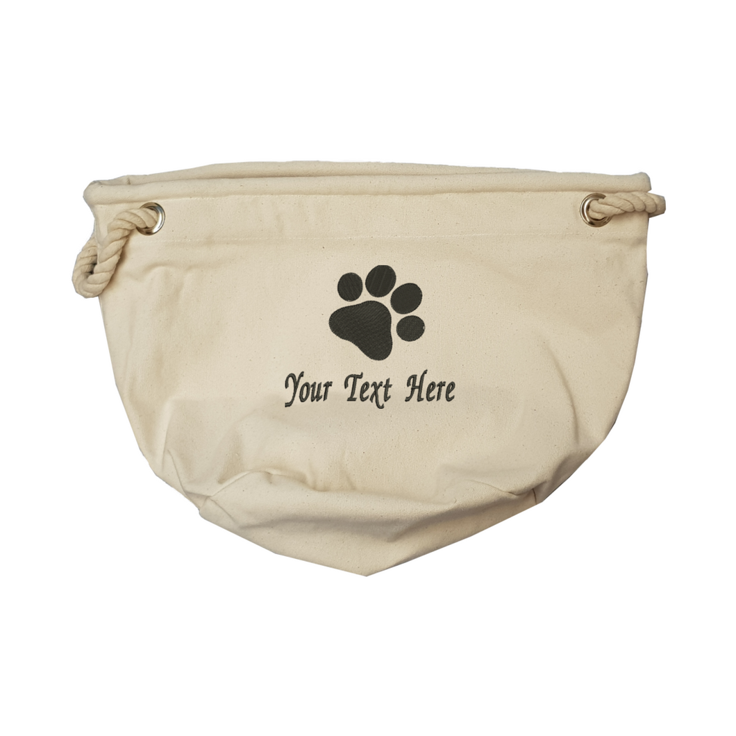 Personalise your pawprint toy bag