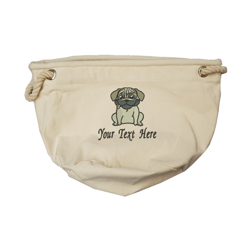 Personalise your pug toy bag