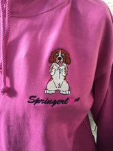 Embroidered Springer Spaniel Hoodie closeup