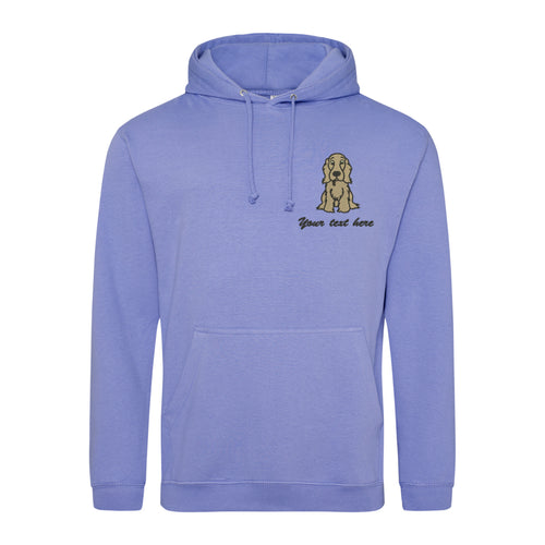 Tan cocker spaniel college hoodie