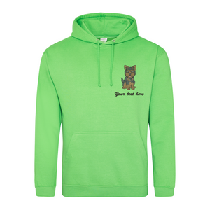 Embroidered Yorkshire Terrier Hoodie