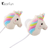 Unicorn Earphones Colorful Rainbow  In-ear Earphone 3.5mm