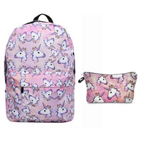 Pink Pizzaz Unicorn Backpack with Pouch