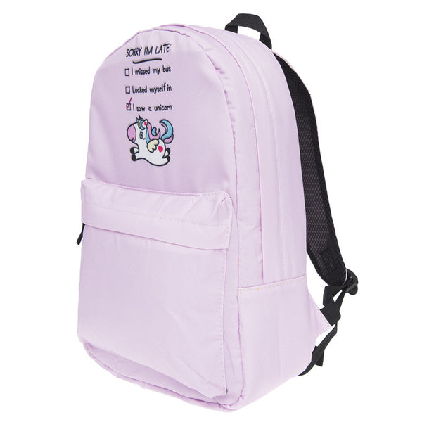 Sorry I'm Late I Saw A Unicorn Backpack