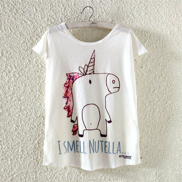 I Smell Nutella Unicorn Tshirt