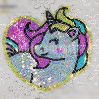 Shiny Unicorn Sequin Patch